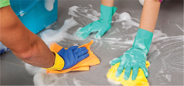 photo of multiple Cleaners Cleaning a floor