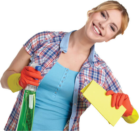 photo of a cleaner with a mop