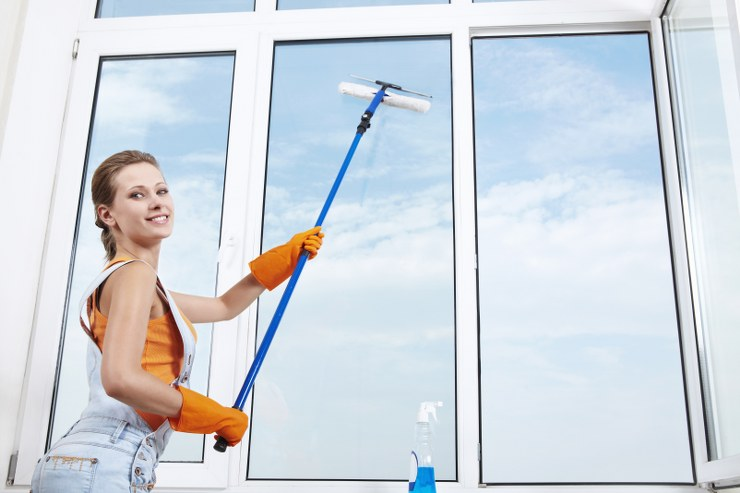 cleaning windows